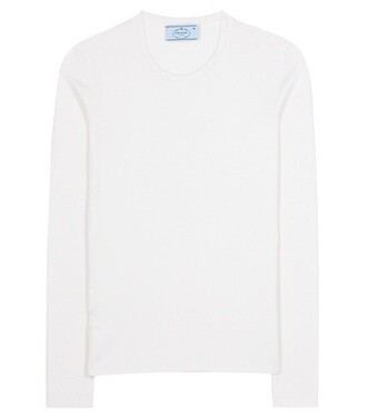 sweater silk white