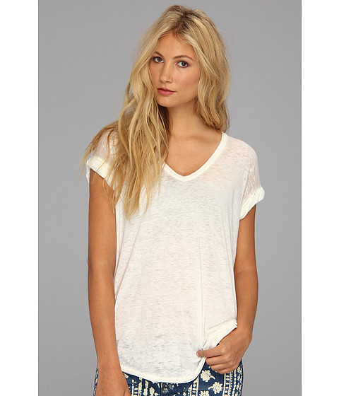 Free People Keep Me V Tee Ivory - Zappos.com Free Shipping BOTH Ways