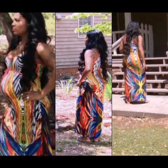dress love and hiphop atlanta sundress orange blue colorful long rasheeda
