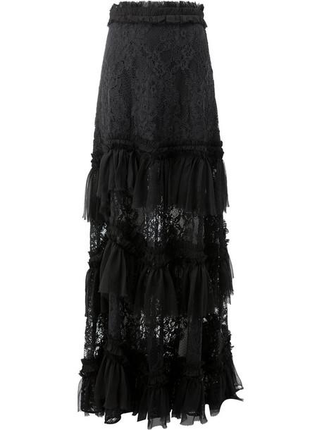 Alexis skirt women spandex black silk