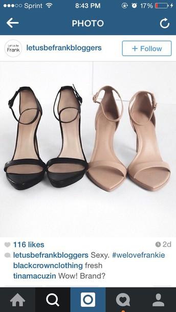 shoes nude black heels