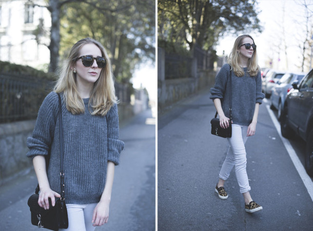 tiphaine's diary sweater bag pants sunglasses jewels