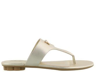 sandals flat sandals gold shoes