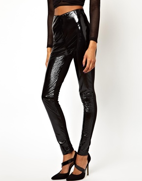 ASOS | ASOS Leather Look High Waisted Leggings at ASOS