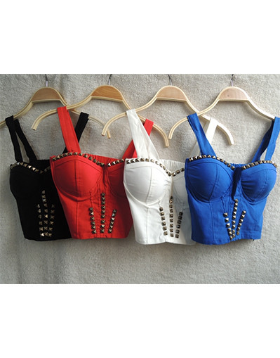 Tank crop top with rivets