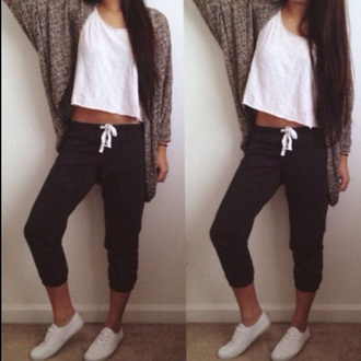 pants lazy day joggers black white toggles toggles comfy sweatpants red lime sunday cardigan skirt shirt