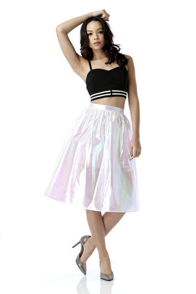 Jem hologram circle skirt