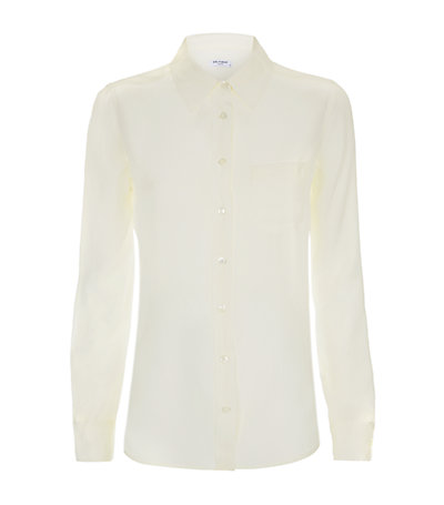 Equipment Brett Shirt in Ivory | Harrods