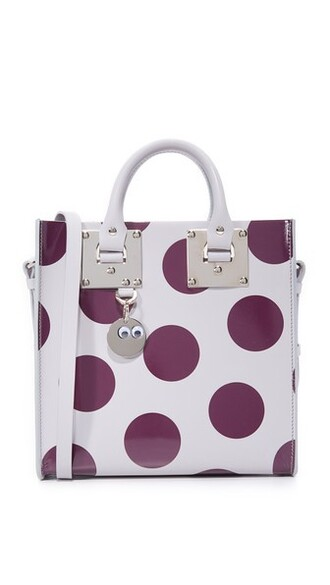 light grey plum bag