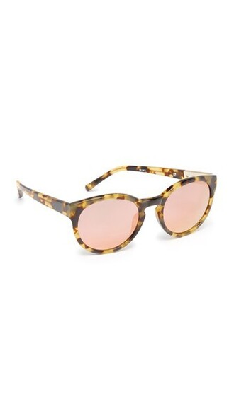 sunglasses mirrored sunglasses peach