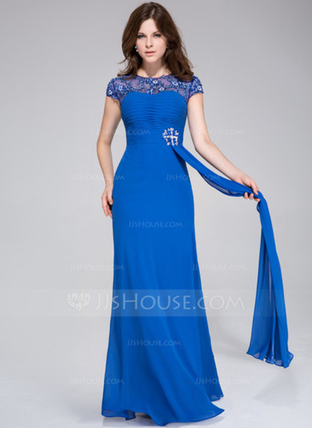 dress a-line/princess scoop neck floor-length chiffon tulle prom dress with ruffle lace beading