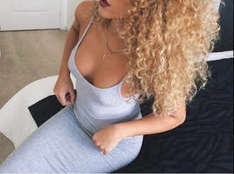 dress gray maxi long strappy spaghetti strap cropped tight v neck cotton sporty chic girly spring
