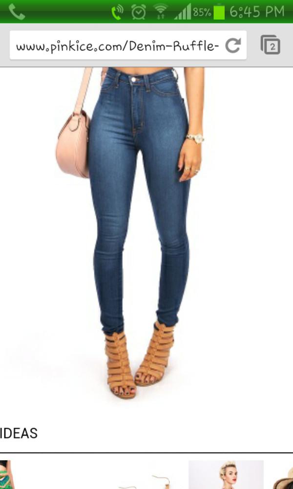 pants highwasted bottoms denim jeans