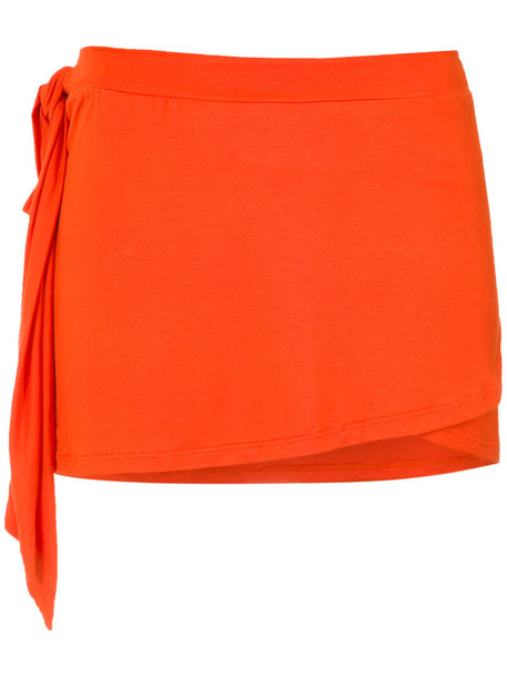 AMIR SLAMA women spandex yellow orange swimwear