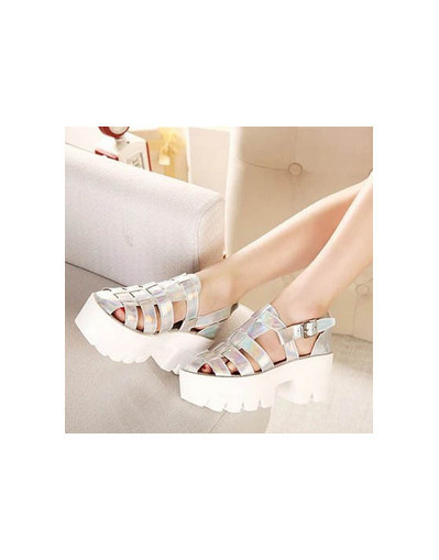 Chunky sandals silver tie dye black white platform heels blogger style