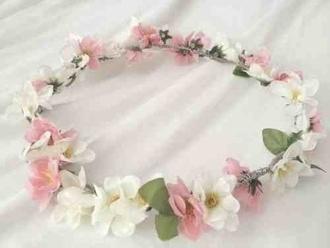 hat flower crown floral headband flowers indie hipster tumblr rosy headband hippie headband hippie festival