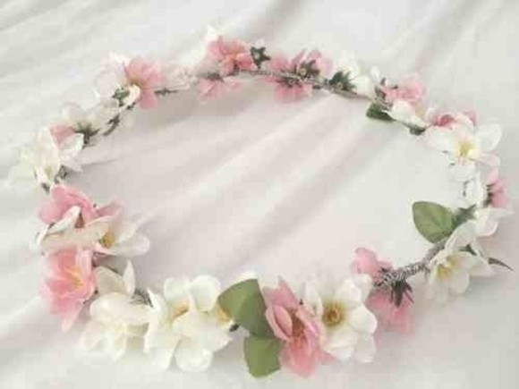 floral headband hat flowers headband hippie festival tumblr flower hipster flower crown floral crown indie rosy hippie headband