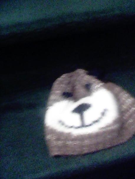 hat bear beanie