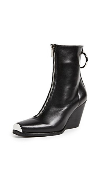 Jeffrey Campbell heel heel boots silver black shoes