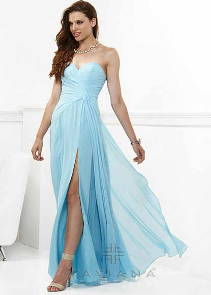 evening gown sweetheart neckline strapless long dress