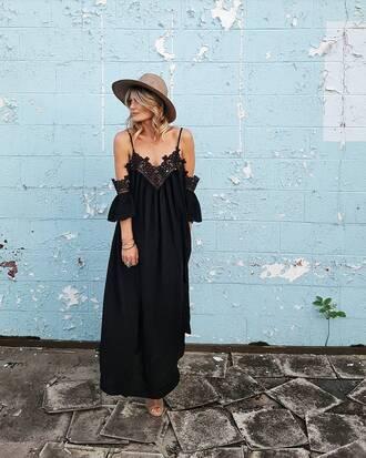 dress hat tumblr maxi dress long dress black dress summer summer dress