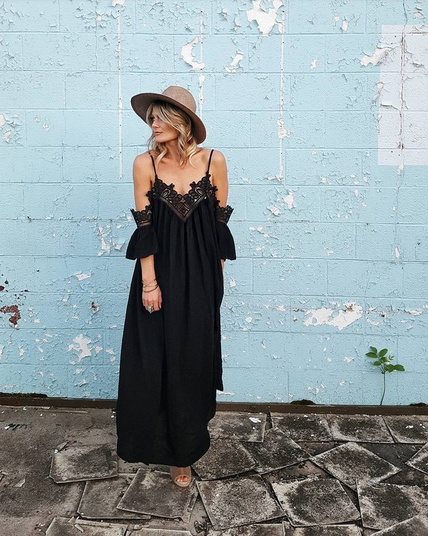 2bb947e6e23 dress hat tumblr maxi dress long dress black dress summer summer dress.
