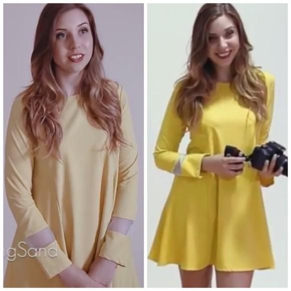 yellow yellow dress youtuber loose dress