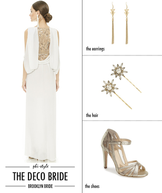 bklyn bride blogger dress white dress gold sandals