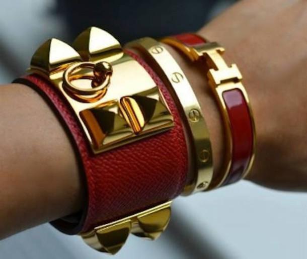 8c24a0d547da7 jewels classy leather bracelet cuff bracelet bracelets stacked bracelets  hermes cartier