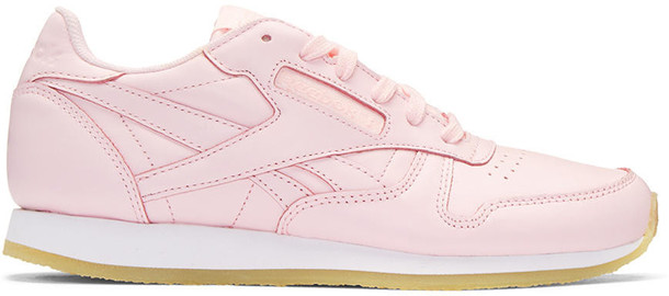 Reebok Classics Pink Leather Classic Sneakers