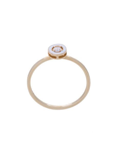 Alison Lou women ring gold grey metallic jewels