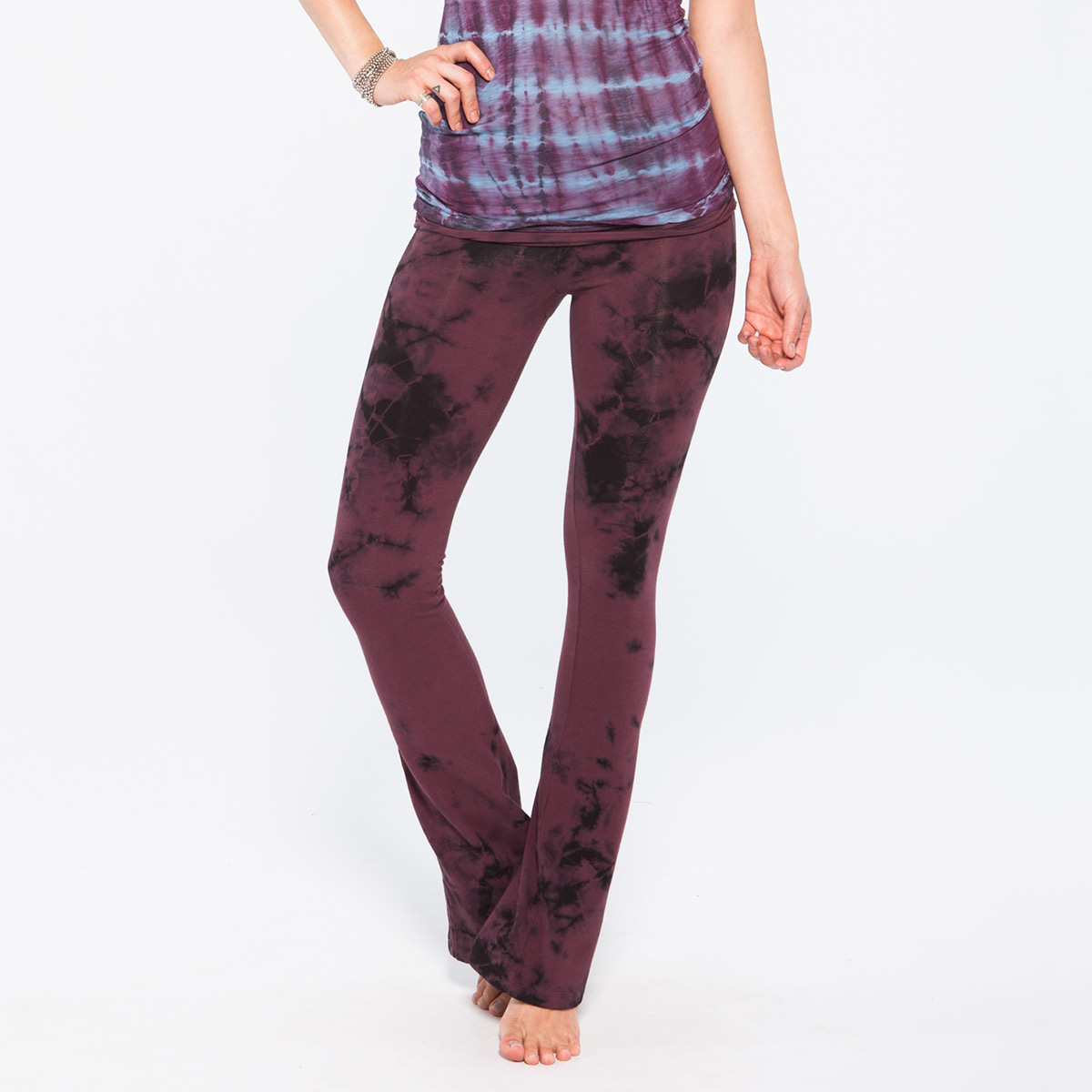 Om Girl Aura Wash Practice Pant in Womens Apparel at Vickerey