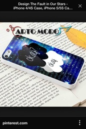phone cover,the fault in our stars,iphone 4 case,johngreen