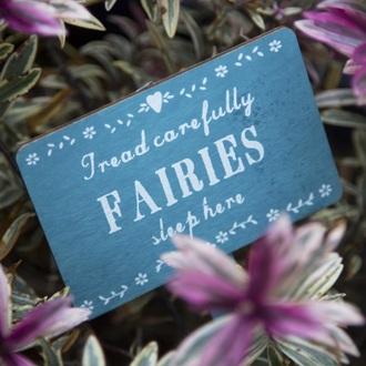 home accessory garden planter decoration blue fairy wood