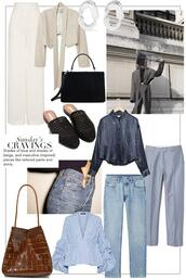 teetharejade,blogger,pants,jacket,jewels,bag,shirt,jeans,blouse,loafers,spring outfits,white pants
