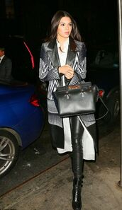 leggings,coat,kendall jenner,boots,shirt