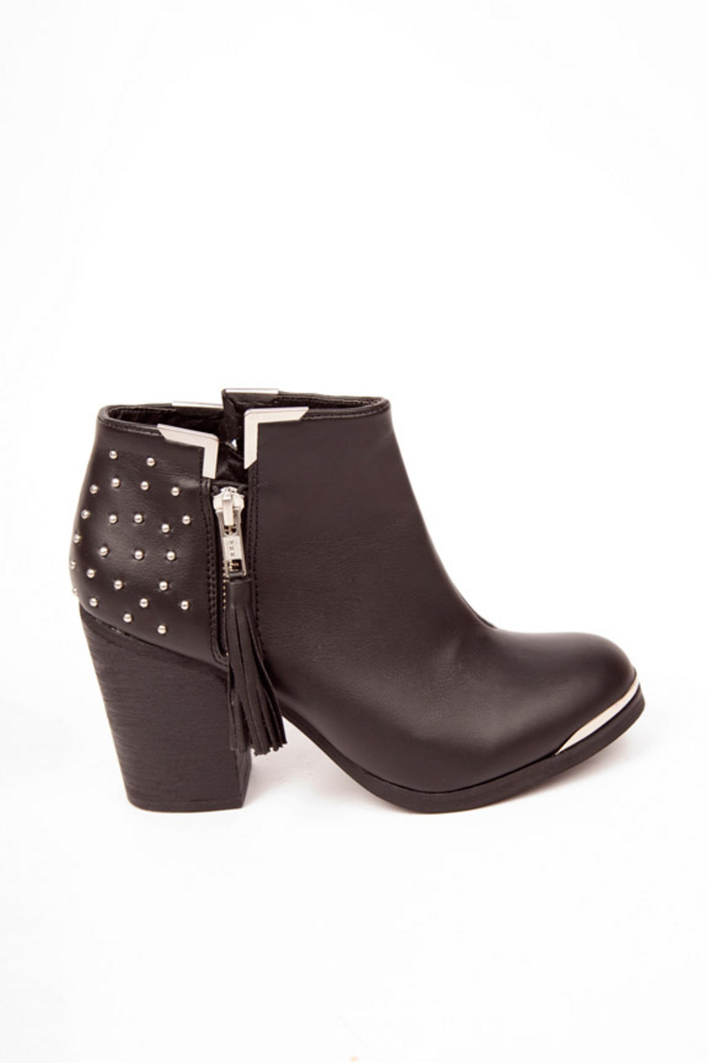 MTNG Fullu Studded Ankle Booties $60