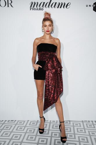 dress mini dress velvet velvet dress sandals platform sandals belt model cannes black dress shoes strapless