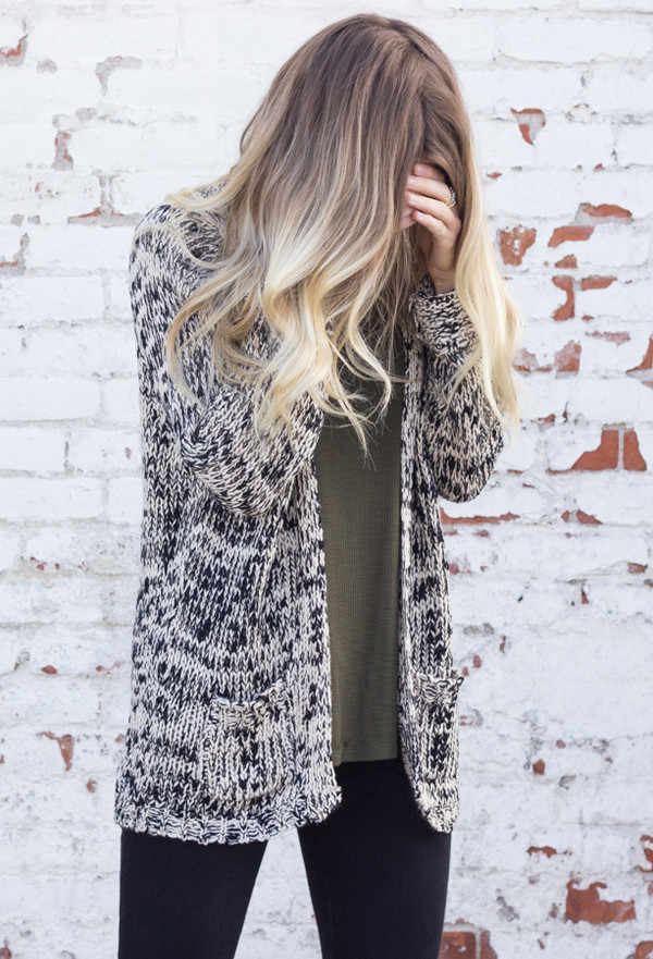 sweater cardigan knit long sleeves slouchy top shirt