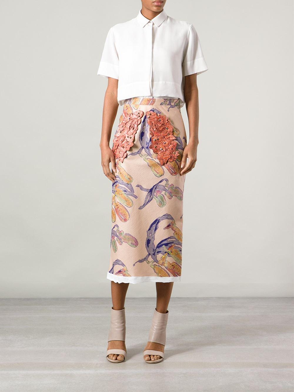 Sonia Rykiel Abstract Print Skirt - Jean Pierre Bua - Farfetch.com