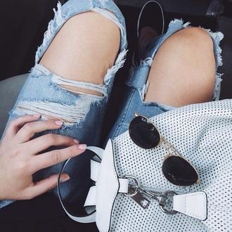 bag jennxpenn dots white black nice bad white and black bag cute bg cute bag jeans