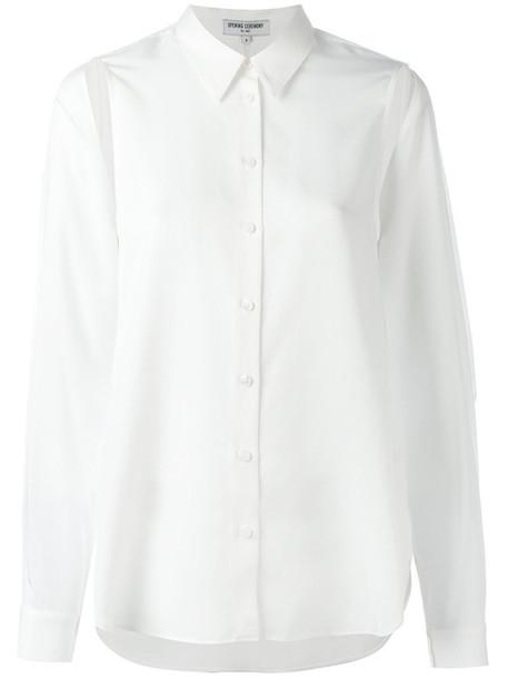 Opening Ceremony - cap sleeve shirt - women - Tencel - 2, White, Tencel