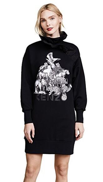 dress sweatshirt dress ruffle black