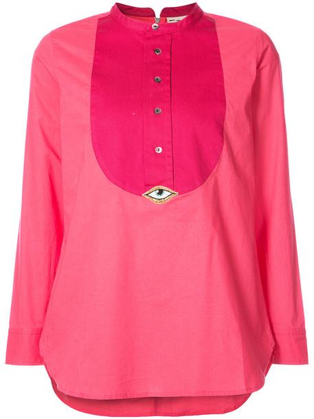 Figue shirt women cotton purple pink top