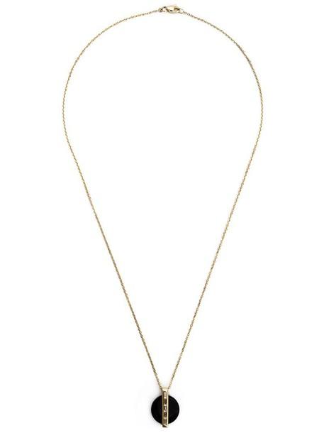 Kristin Hanson women necklace pendant gold black jewels