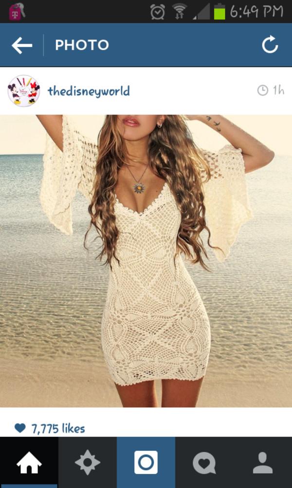 dress white dress summer beach