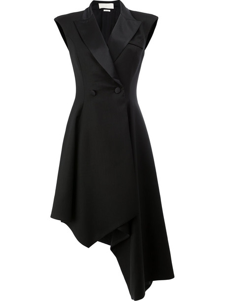 Monse dress button up dress women spandex black silk wool