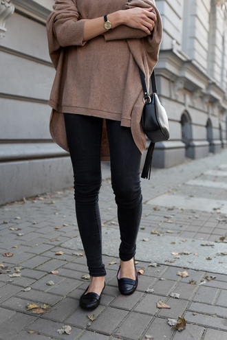 sweater brown jump soft pullover oversized sweater