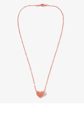 Heart Chain Necklace | FOREVER21 - 1044146571