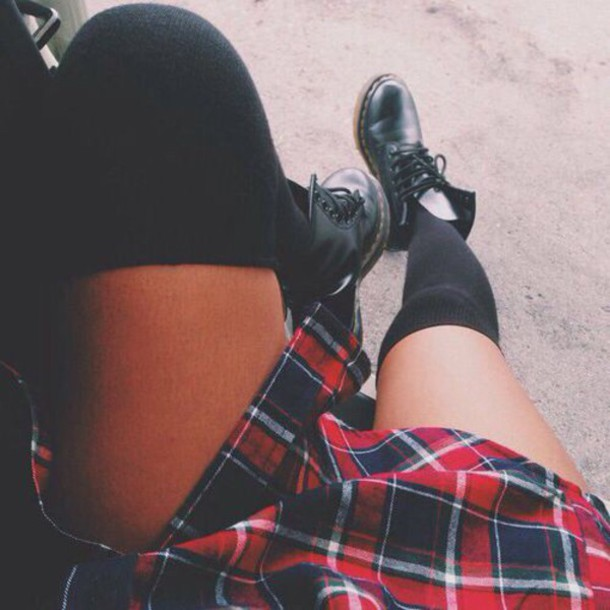 skirt red flannel